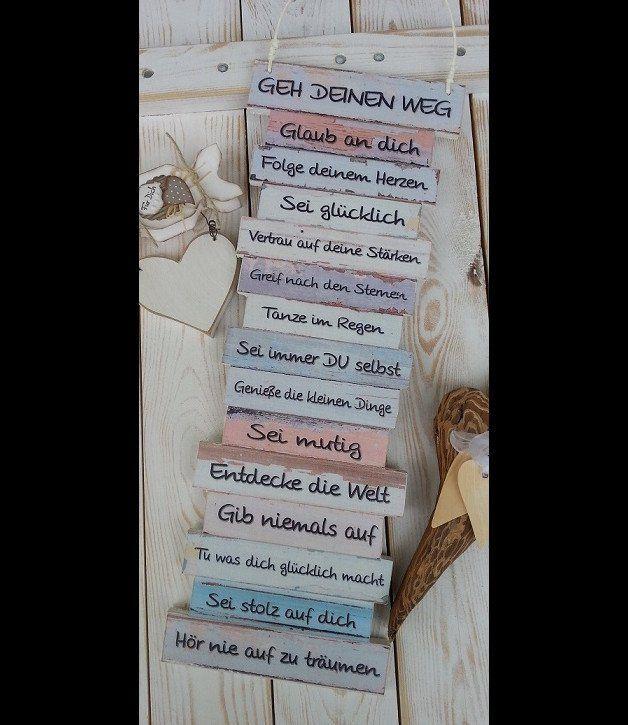 Holzschild Geschenk Shabby Style DANKE du bist die beste Erzieherin