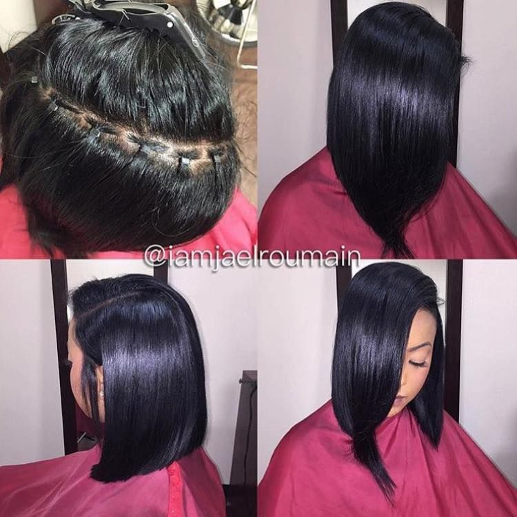 Braid Less Sew In Hair Styles Relaxed Hair Natural Hair Styles