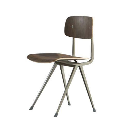 $370.00 At Matthewizzo.com (School House Chair Walnut Ne Steel