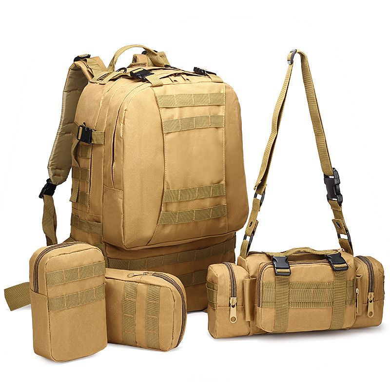 6c2abcac6c2f 75L Men Camping Travel Mountaineering Bag Oxford cloth outdoor backpack  Hiking tactical camouflage bag Big combination