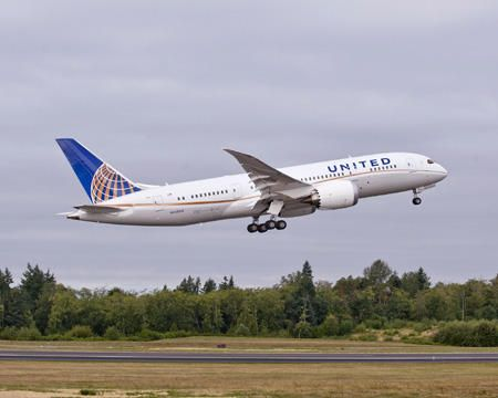 United Airlines B787 - United took delivery of its first Dreamliner on September 24, 2012