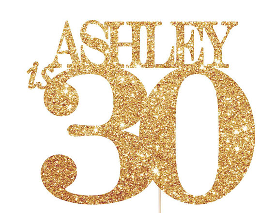 30 Cake Topper 30th Birthday Decorations For Her Or Him 30th