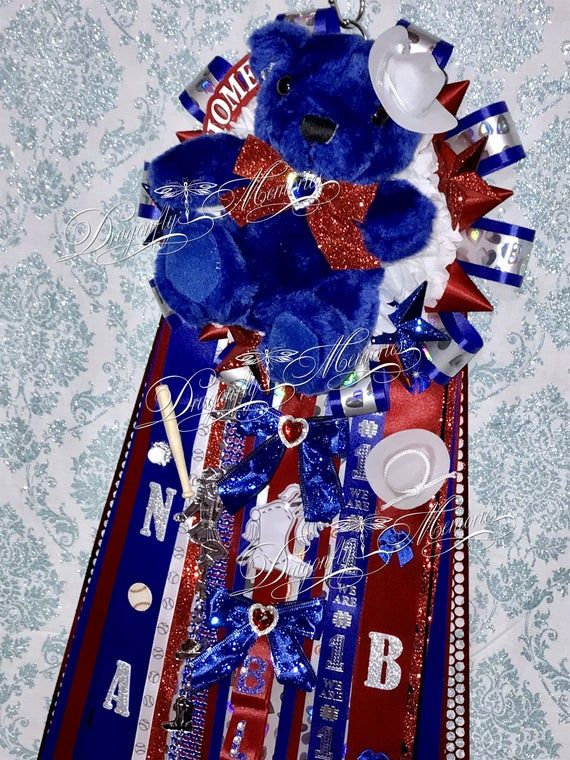 High School Dance Team Homecoming Mum, Custom Single Dance Mum w/ Dance Bear, Texas Drill Team Mum, Senior, Junior, Sophomore, Freshman
