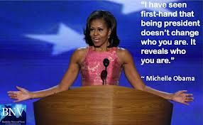 Reveals who you are Michelle Obama