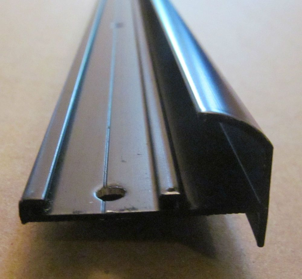 92 Black Aluminum Insert Type Gutter Drip Rail Trim 1 7 16 X 1 4 Leg Rv Duck Boat Blind Rv Stuff Rv