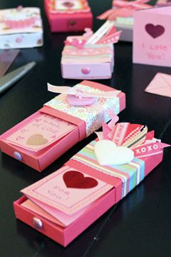 Matchbox Valentines With A Folded Note Inside Valentine S Crafts