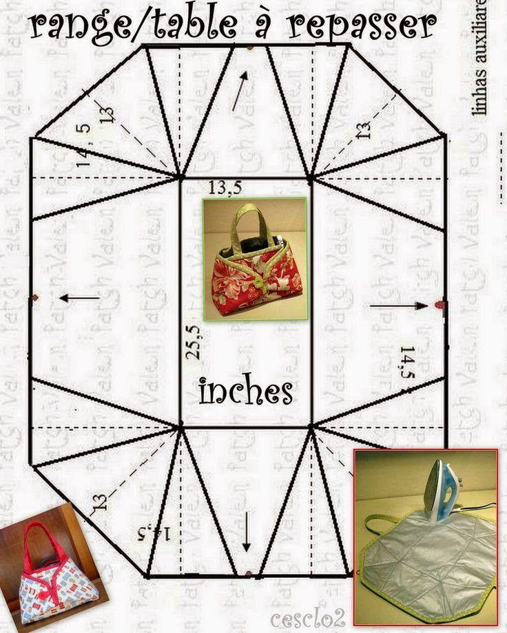 Bolsa porta ferro de tecido   Costura, Bolsos y Molde