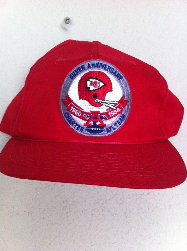 e1b33a7ec92 Vintage Kansas City Chiefs 1984 AFL NFL Hat Cap Snap Back  KansasCityChiefs