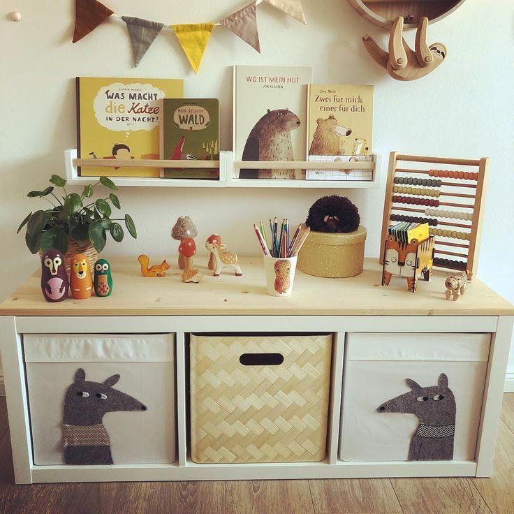 Kallax Kinderzimmer Stauraum DIY #kleinkindzimmer