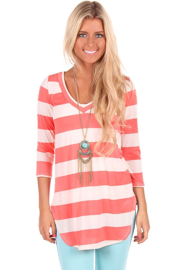 Lime Lush Boutique - Peach Striped V Neck Top, $29.99 (http://www.limelush.com/peach-striped-v-neck-top/)#style #chronicleblog #lovefashion #new #fashionblog #instafashion #photomodel #beauty #trend #queen #day #us #follow #girl #princess #look #lookbook #like #beautiful #cute #sexy #iphonesia