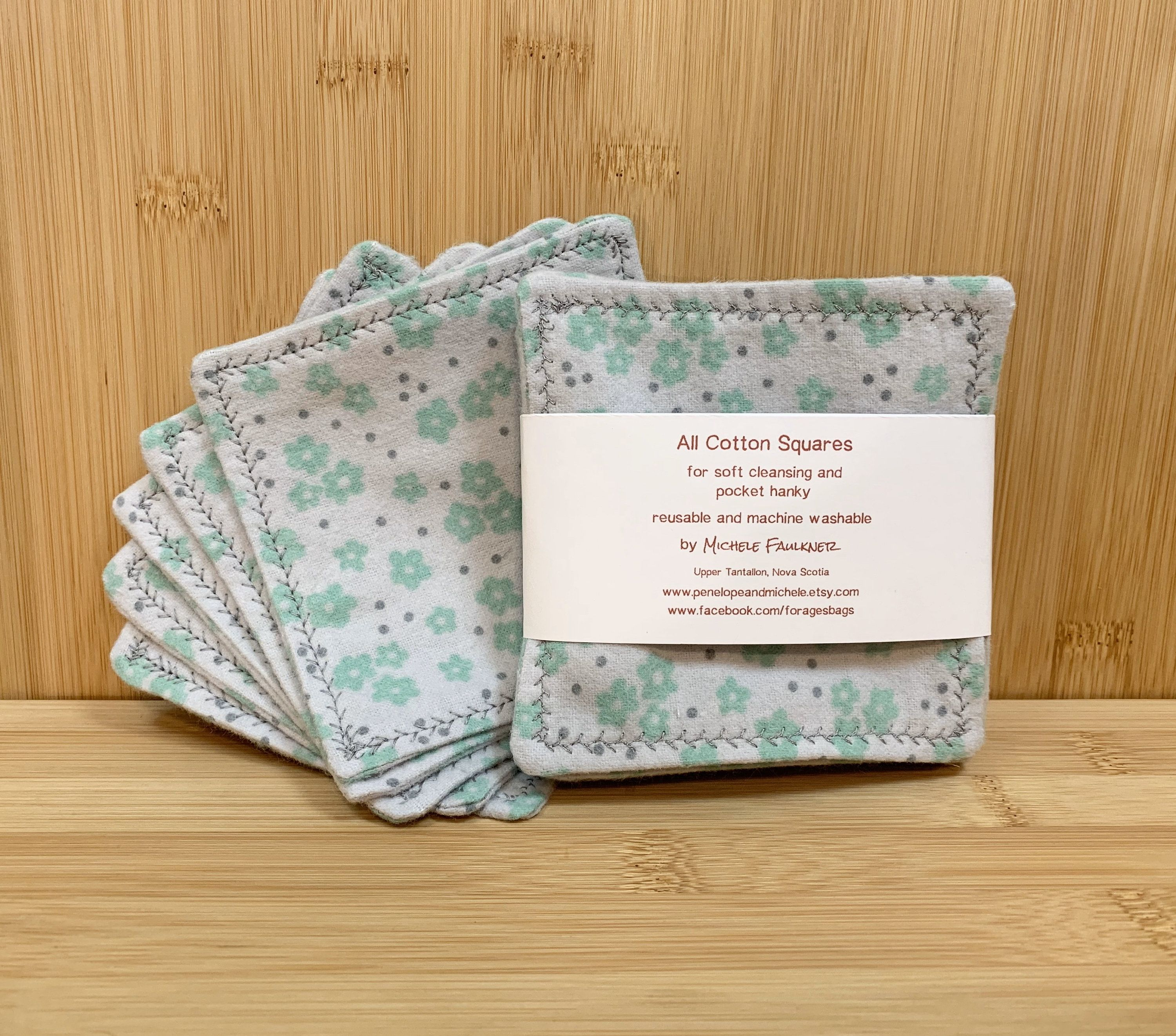 Make up remover pads gray reusable cotton squares soft