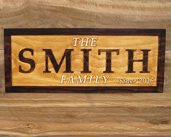 Farmhouse sign last name and established year sign wedding