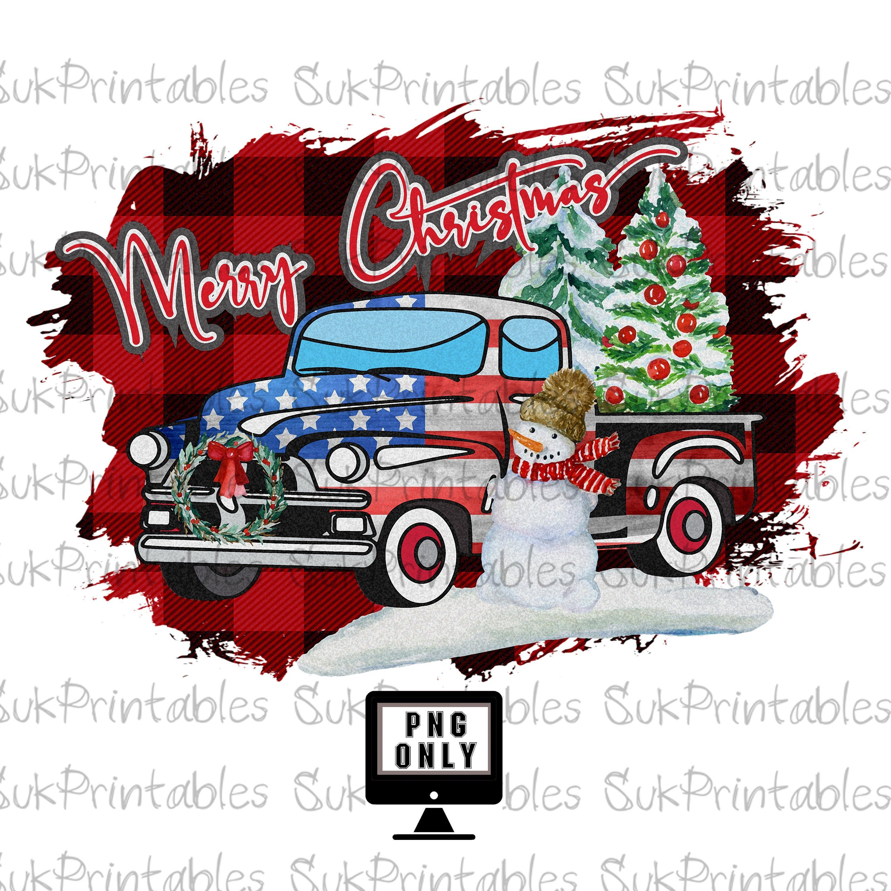 Merry Christmas Truck Clipart Christmas Png Digital Download Etsy Christmas Clipart Christmas Paintings Christmas Truck