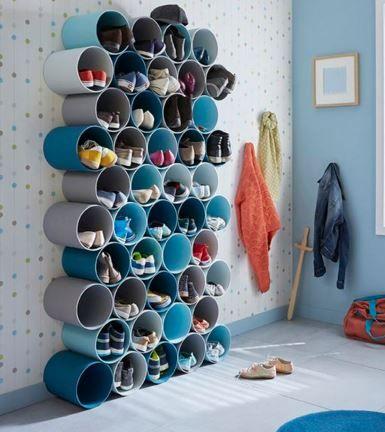10 id es de rangements chaussures r cup faire soi m me. Black Bedroom Furniture Sets. Home Design Ideas
