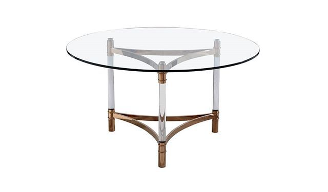 You Can Also Think Of Lucite Table Legs For A Round Dining Table