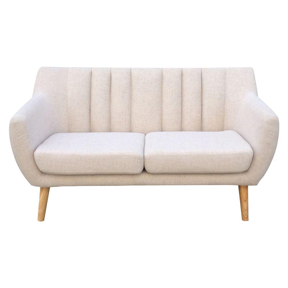 Buy Luxo Ramten 2 Seater Scandinavian Sofa Ivory Smoke Online