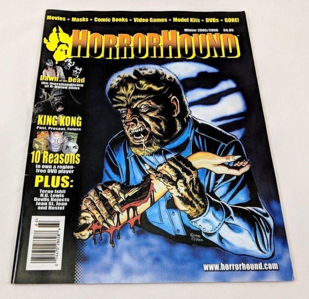 HorrorHound Magazine Issue #1 Winter 2005 Wolfman Cover