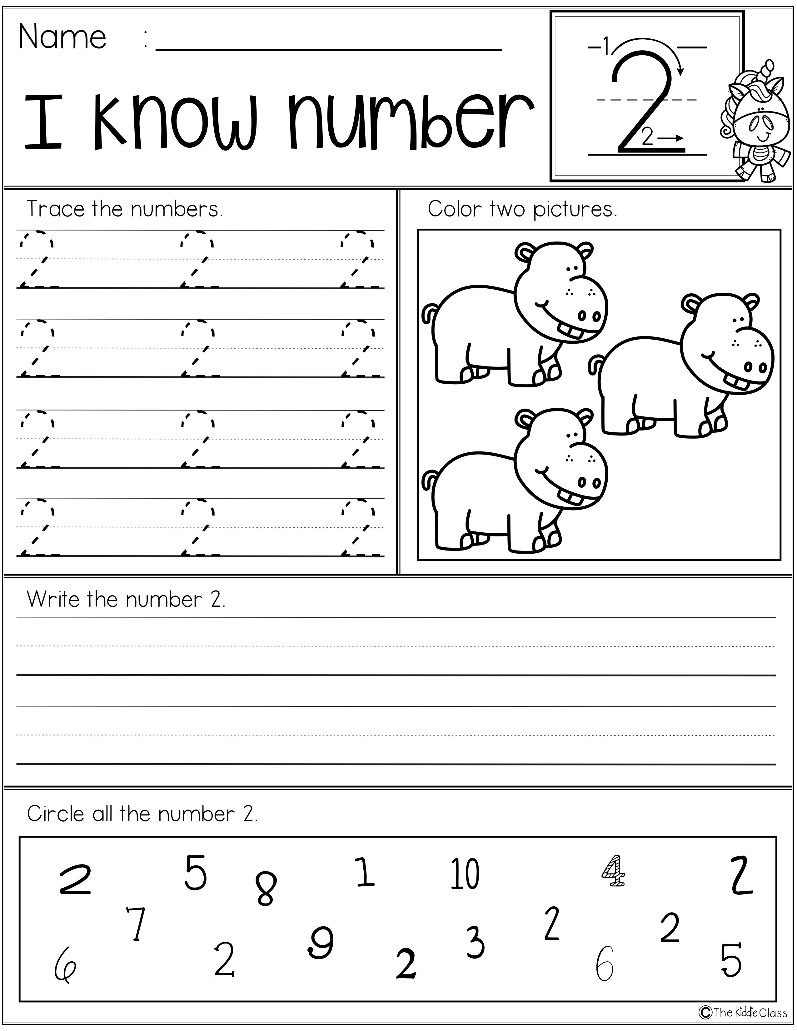 Number Practice Printables 1 20 There Are 20 Printable