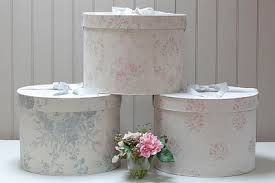 Decorative Hat boxes can offer another storage solution when organizing your hats.