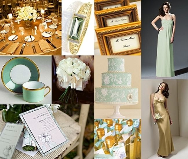Wedding Inspiration Board Mint Green Gold Pretty Pastels That Are Ociated