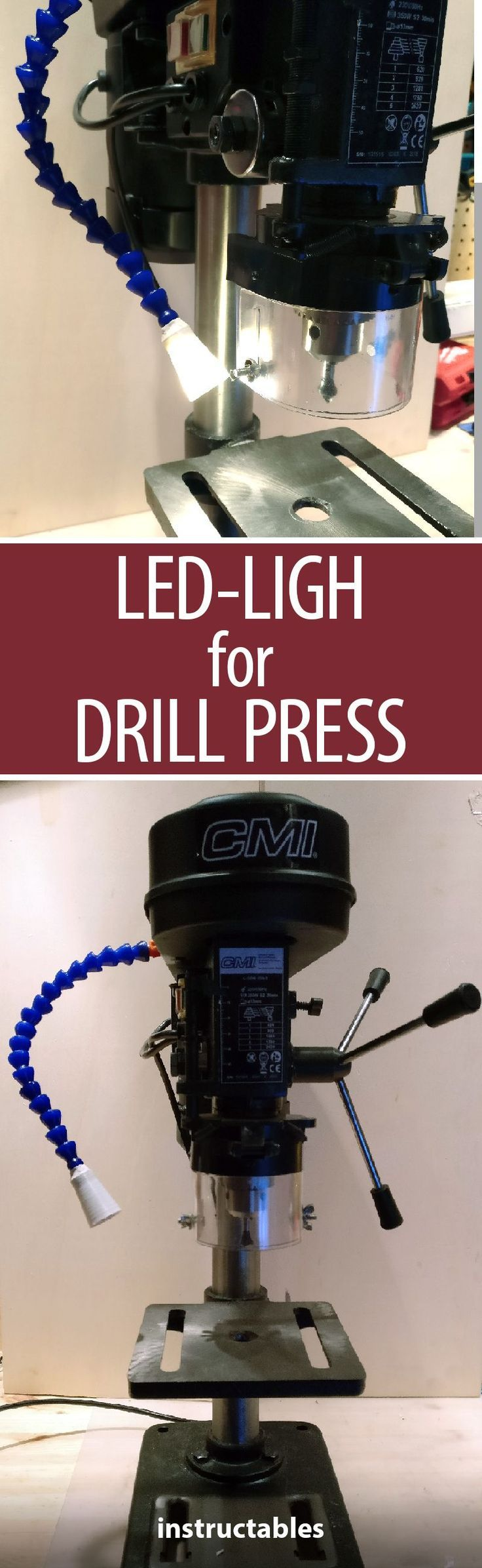 Add a handy led light to your drill press to make working