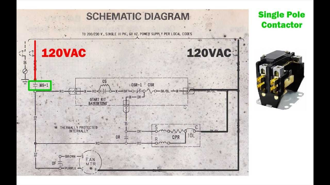 HVAC condenser - how to read AC schematic and wiring diagram - air condi...  | Hvac control, Diagram, CodingPinterest