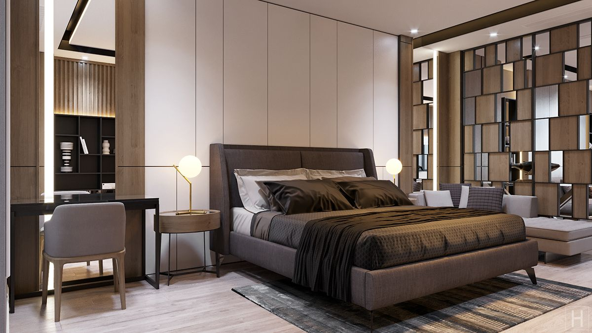 Contemporary Master Bedroom On Behance Master Bedroom