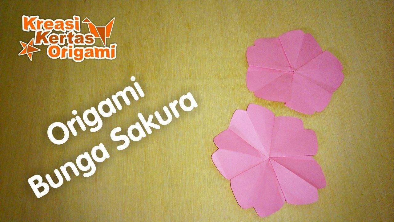 Cara Mudah Membuat Bunga Sakura dari Kertas Origami  4d347c3539