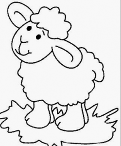 Sheep Coloring Pages For Preschool Preschool And Kindergarten Art Drawings For Kids Farm Animal Coloring Pages Coloring Pages