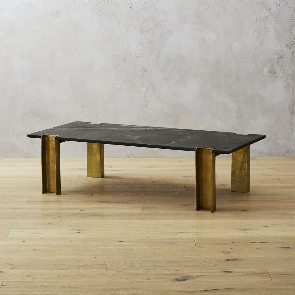 Cb2 February Catalog 2018 Alcide Black Marble Coffee Table Black Marble Coffee Table Coffee Table Marble Coffee Table