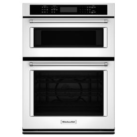 KitchenAid Self Cleaning Convection Microwave Wall Oven Combo (Common:  27 In;