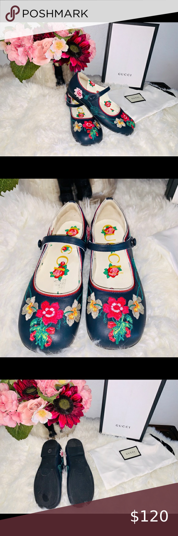 Photo of Girls embroidered shoes size 33 US size 2 Beautiful girls shoes. Size 33 US 2 Wo…