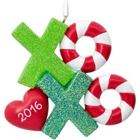 Hallmark 2016 Xoxo Love Ornament, Multicolor Love and Ornaments