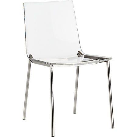 Chiaro Clear Chair Nickel Reviews Cb2 Clear Chairs Ikea Dining Chair Chair