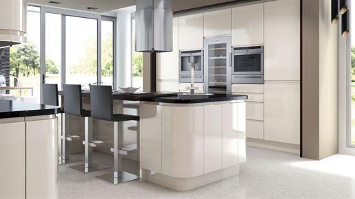 atlantis kitchens inspiration handleless gloss ivory kitchen rh pinterest es