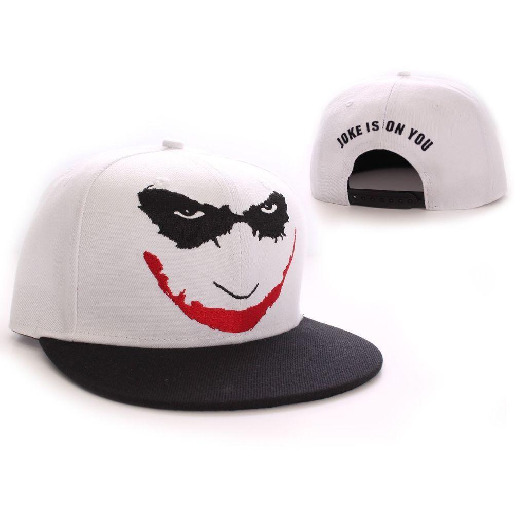 Batman Joker Face Official New White Baseball Cap Batman Baseballcap Joker Face Batman Joker Snapback