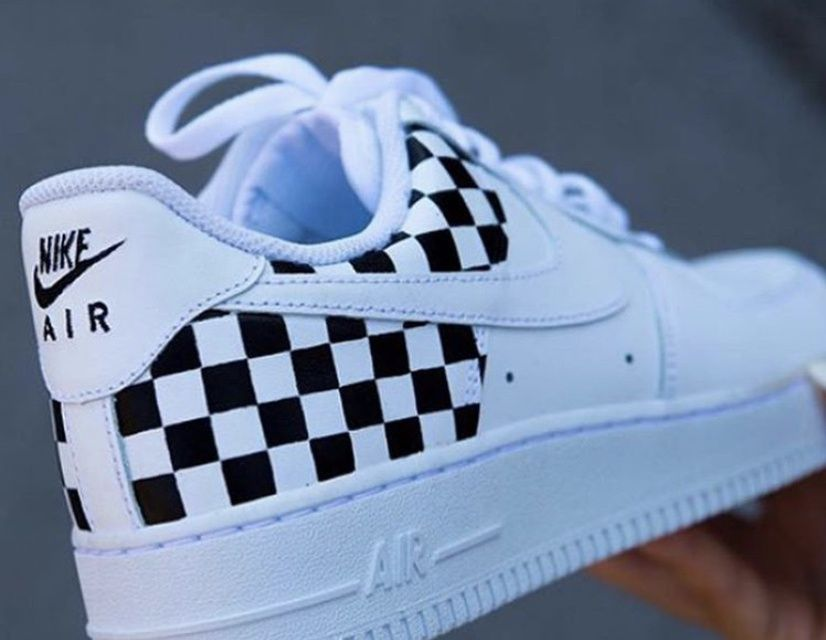 Checkered air force 1's comes in any size