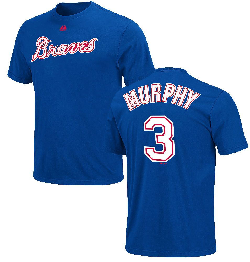Dale Murphy Atlanta Braves Mlb Throwback 2 Sided Short Sleeve Tee Shirt By Majestic 26 95 Futbolero Moda
