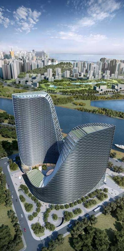 Huarong Hengqin Tower, Zhuhai, China by Atkins Architects [Future Architecture: http://futuristicnews.com/category/future-architecture/]: