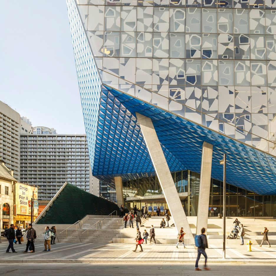 Fritted glass creates patterned facade for Ryerson