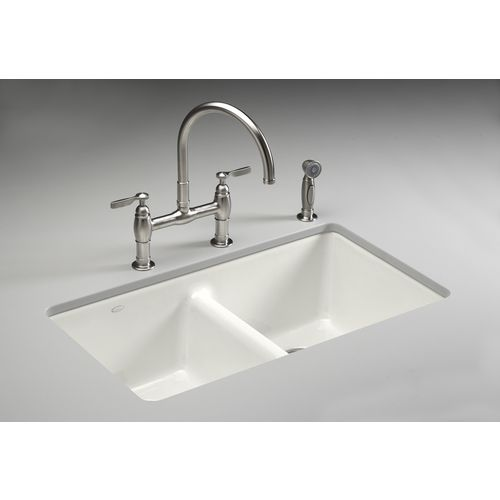 536 90 Kohler White Cast Iron Undermount Kitchen Sink With