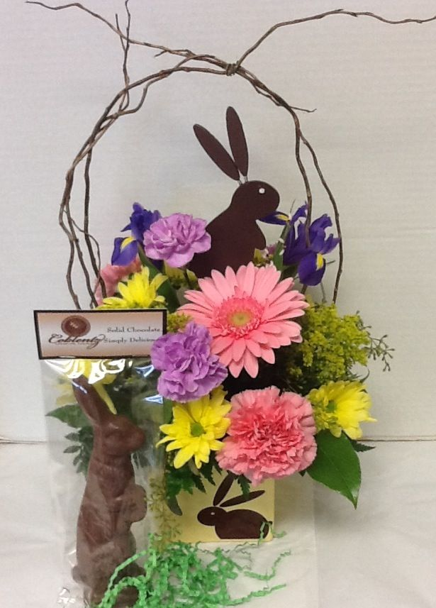 Easter Bunny Bouquet With Chocolate Bunny