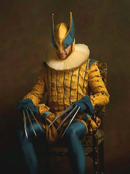Photographer Sacha Goldberger photographed Superheroes & Villains as 16th century Flemish models, outfitted in luxurious fabrics and Elizabethan ruffs.