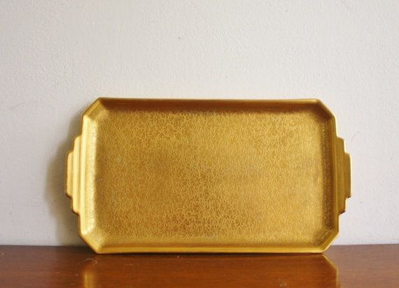 Vintage Pickard China Gold Porcelain Tray House And Home
