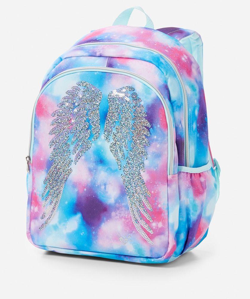 Angel Wings Backpack Book Bag Nwt