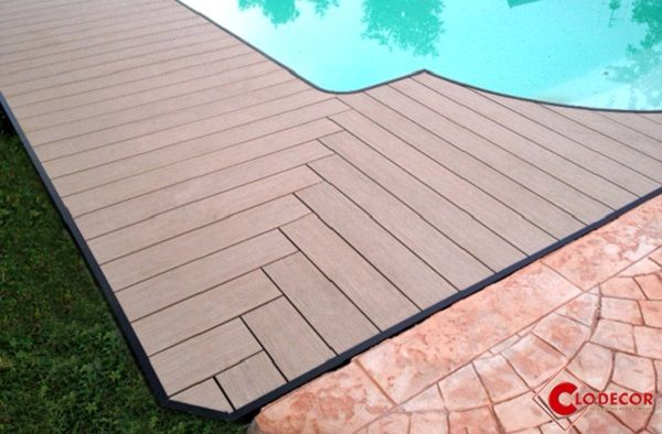 Pose En Chevron Recherche Google Wpc Decking Composite Wood Deck Diy Deck