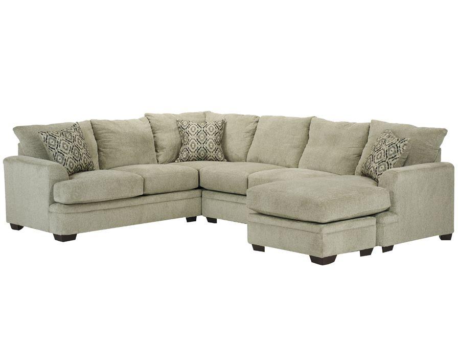 Cornell Platinum LSF Sectional: Rothman Furniture