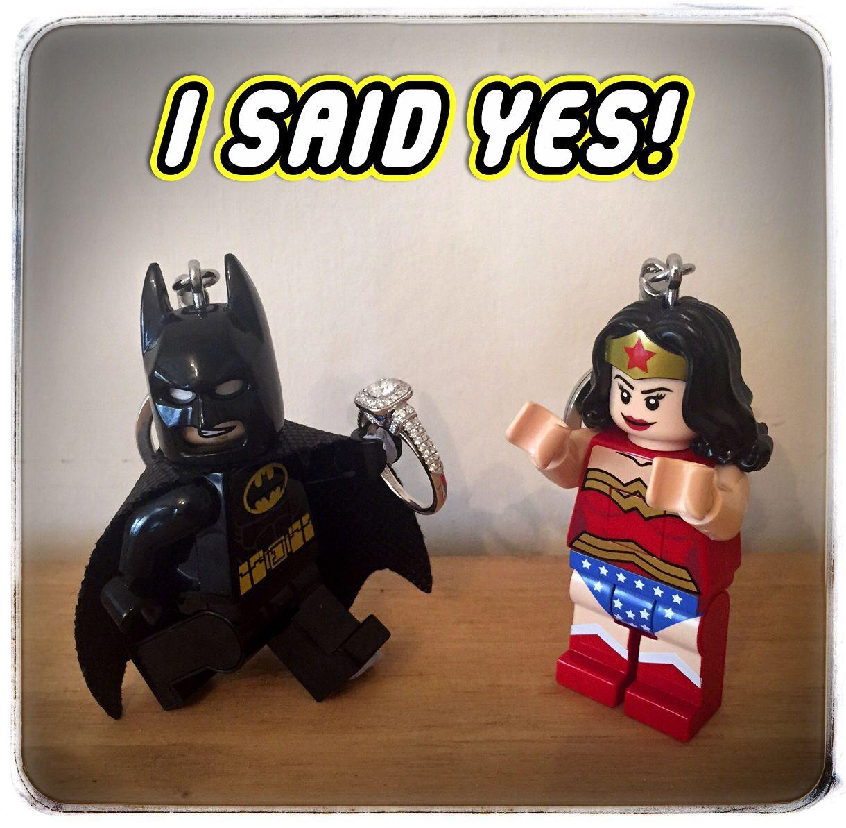 Our Batman & Wonder Woman Lego Engagement Announcement