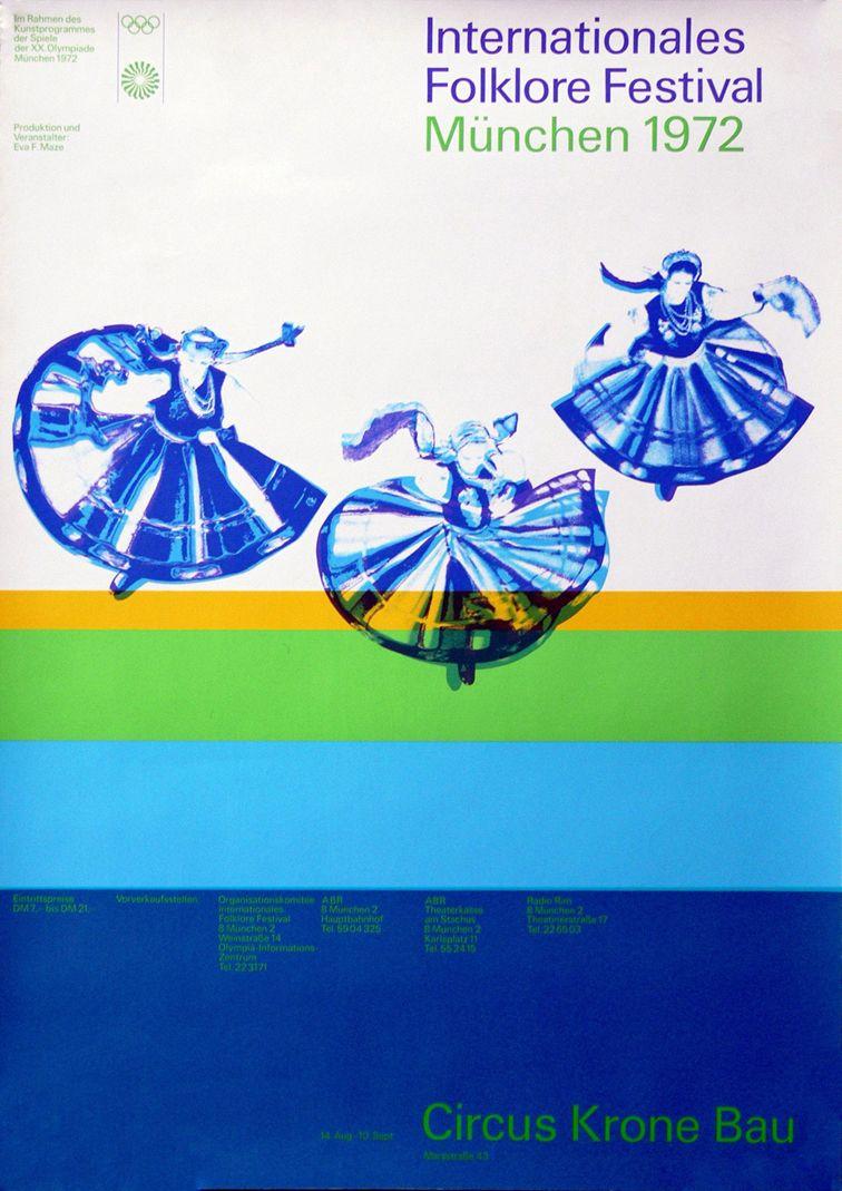 Munich_72_cultural_programme_poster_International_Folk_Festival_München_1972