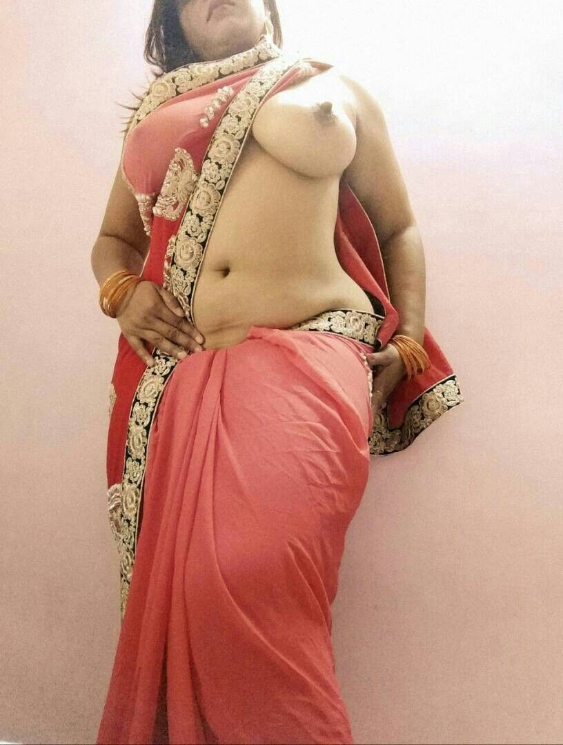 aunties saree nude